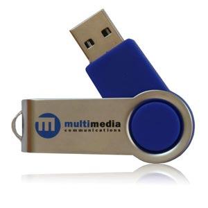Aluminium Angle USB Flash Drive Aluminium Twist Memory Stick